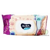 AURA ULTRA COMFORT Влажные салфетки для детей 200шт с крышкой