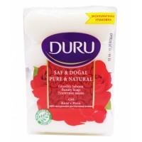 DURU PURE&NAT мыло Роза(э/пак)4*85г