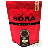 Кофе раствор. сублимированный ароматиз. La Sora 200 гр ZIP