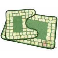 Комплект ковриков для ванной комнаты, принт, 0,5*0,8 0,5*0,5