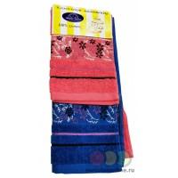 Комплект махровых полотенец c дизайном жаккард, бордюр 30х60 2 шт плотность 400гр/м2