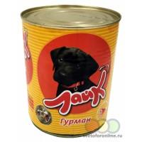 """Корм """"Лайк"""" консервы для собак 850 г Гурман говядина и сердце"""