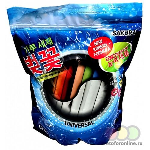 Универсальный концентрированный стиральный порошок САКУРА 1,3кг